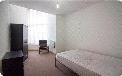 Sample Bedroom of York House, Upper Piccadilly, Bradford, West Yorkshire BD1