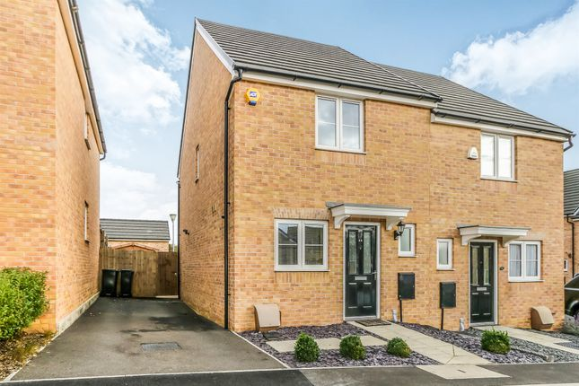 Semi-detached house for sale in Alnwick Close, Rushden