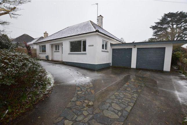 Thumbnail Detached bungalow for sale in Tregurthen Road, Camborne