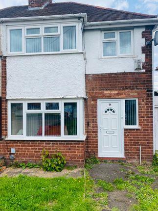 Thumbnail End terrace house to rent in Heston Avenue, Birmingham