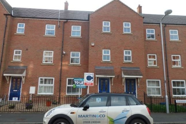 Thumbnail Town house to rent in Colossus Way, Bletchley, Milton Keynes
