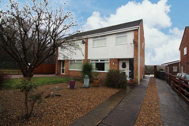 Thumbnail Semi-detached house for sale in Coed Duon View, Pentwynmawr, Newbridge