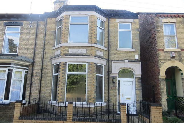 Thumbnail End terrace house for sale in Spring Bank West, Hull