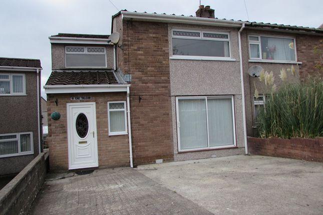 Thumbnail Semi-detached house for sale in Cae Talcen, Pencoed, Bridgend.
