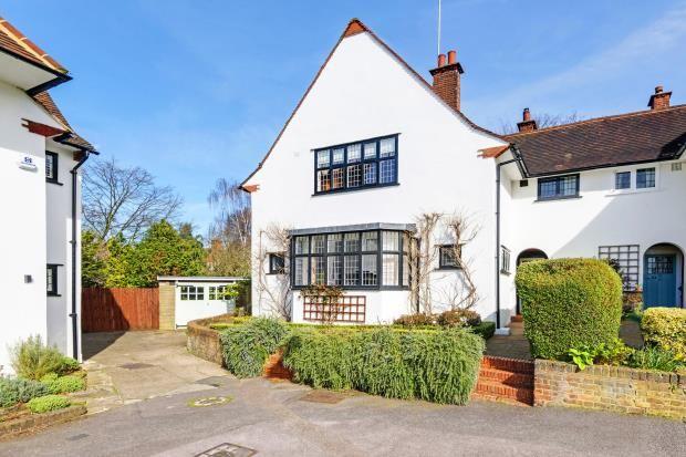 Thumbnail Semi-detached house for sale in Temple Fortune Lane, Hampstead Garden Suburb, London