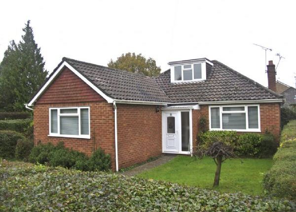 Thumbnail Detached bungalow to rent in Pine Grove, Church Crookham, Fleet