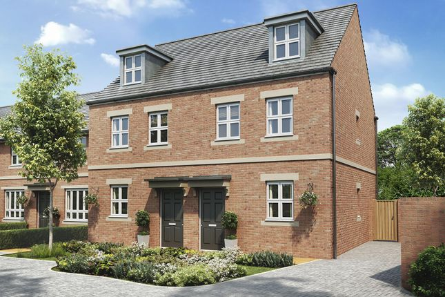 "Thumbnail Semi-detached house for sale in ""Kirkwood"" at Racecourse Road, Newbury"