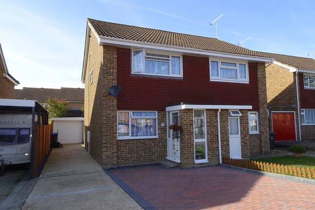 Thumbnail Semi-detached house for sale in Halifax Drive, Worthing