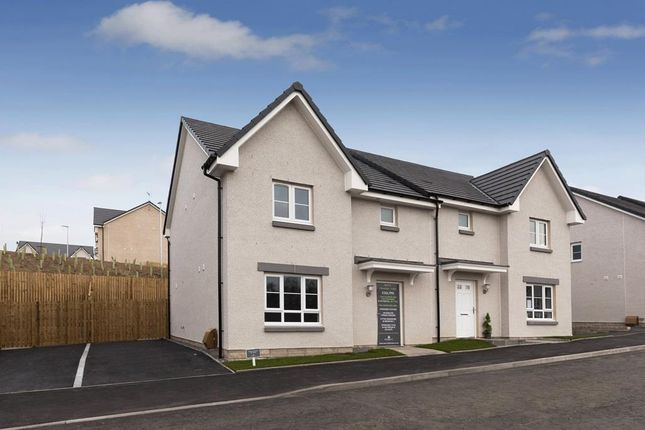 "Thumbnail Semi-detached house for sale in ""Craigend"" at Wellpark, Kemnay, Inverurie"