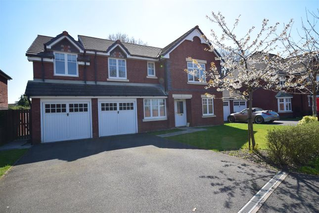 Thumbnail Detached house for sale in Beech Hollows, Rossett, Wrexham