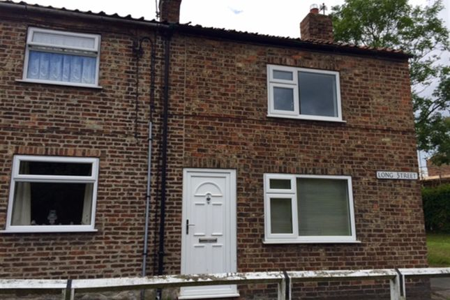 Thumbnail End terrace house to rent in Long Street, Easingwold, York