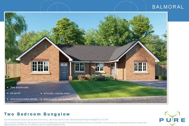 Thumbnail Semi-detached bungalow for sale in Llanfair Dyffryn Clwyd, Ruthin