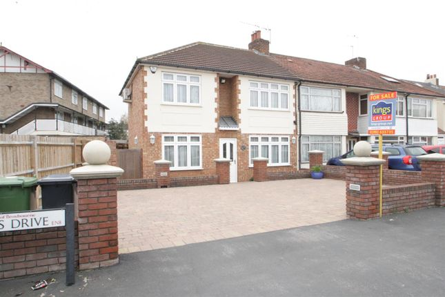 Thumbnail End terrace house for sale in Queens Drive, Waltham Cross, Herts