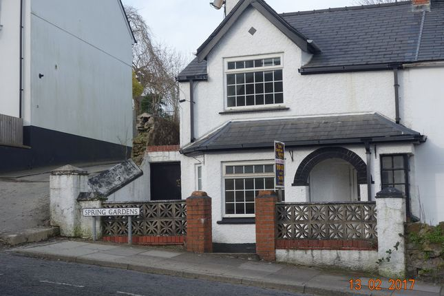 Thumbnail End terrace house to rent in 14 Spring Gardens, Barn Street, Haverfordwest.SA61