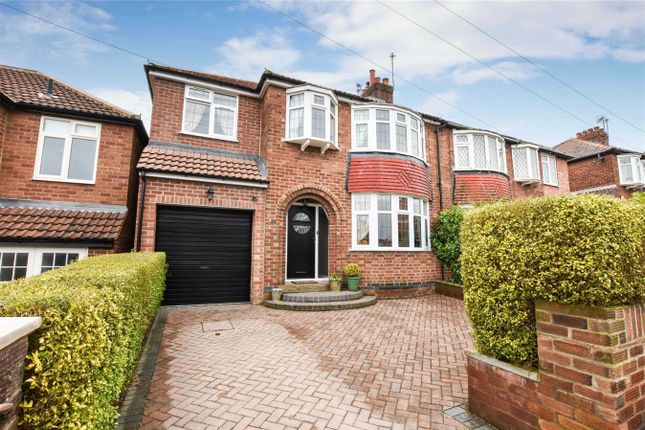 Thumbnail Semi-detached house for sale in Nunthorpe Crescent, South Bank, York