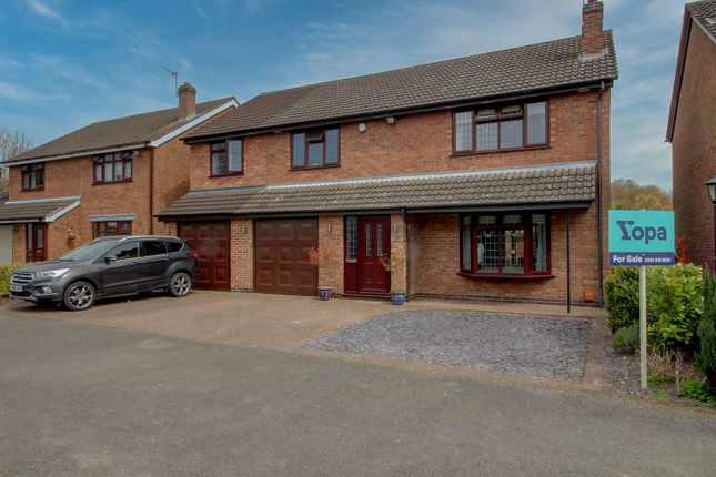 5 bed detached house for sale in Pine Tree Close, Newbold Verdon, Leicester LE9