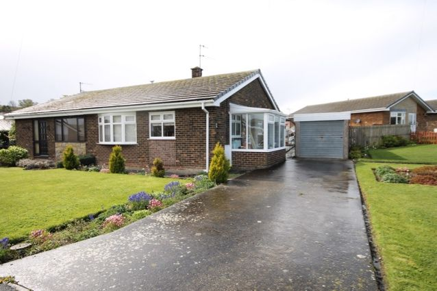 Thumbnail Semi-detached bungalow for sale in Harborough Close, Hunmanby, Filey