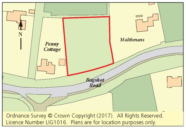 Thumbnail Land for sale in Land North Of Bagshot Road, Chobham, Woking, Surrey