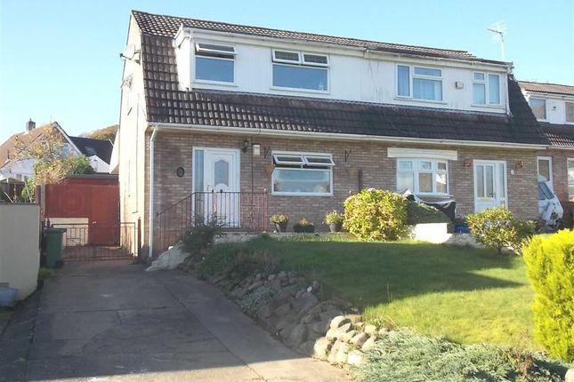 Thumbnail Semi-detached house for sale in Heol Pen-Y-Foel, Coed-Y-Cwm, Pontypridd