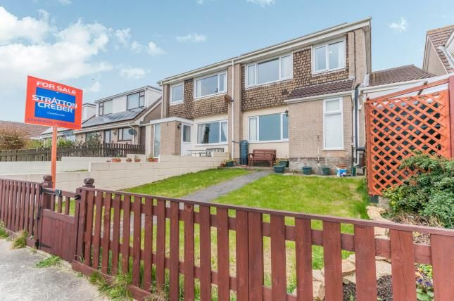 Thumbnail Semi-detached house for sale in Tolvaddon, Camborne, Cornwall