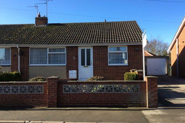 Thumbnail Semi-detached bungalow to rent in Howe Lane, Nafferton, Driffield