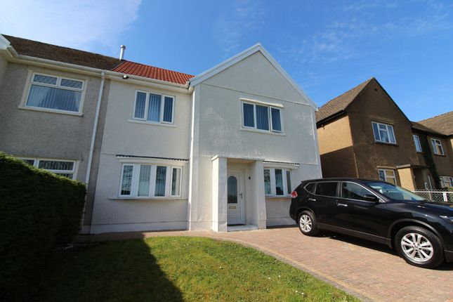 Thumbnail Semi-detached house for sale in Greenwood Road, Cefn Fforest, Blackwood