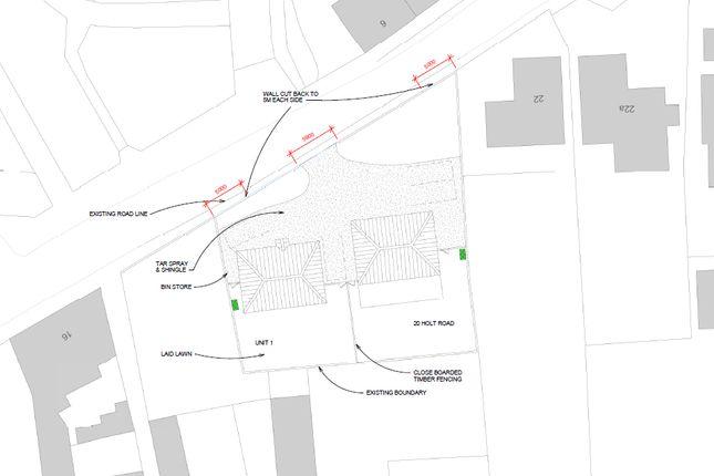 Site Plan of Holt Road, Fakenham NR21