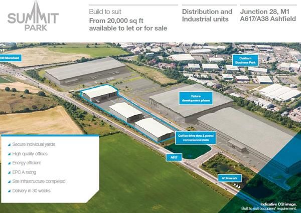 Thumbnail Light industrial to let in Summit Business Park, Mansfield