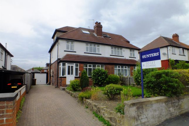 Thumbnail Semi-detached house to rent in Talbot Road, Roundhay, Leeds