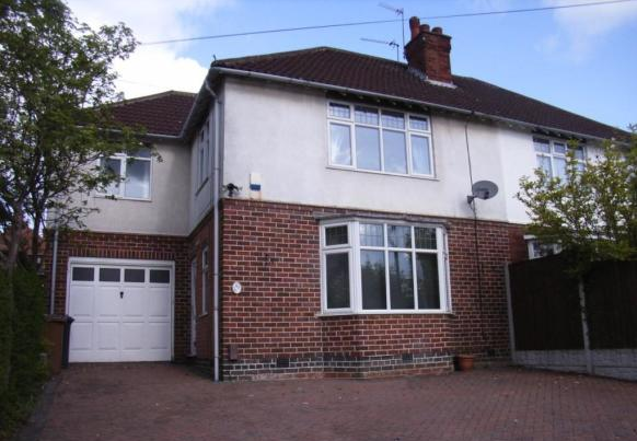 Thumbnail Semi-detached house to rent in Allestree Lane, Allestree, Derby