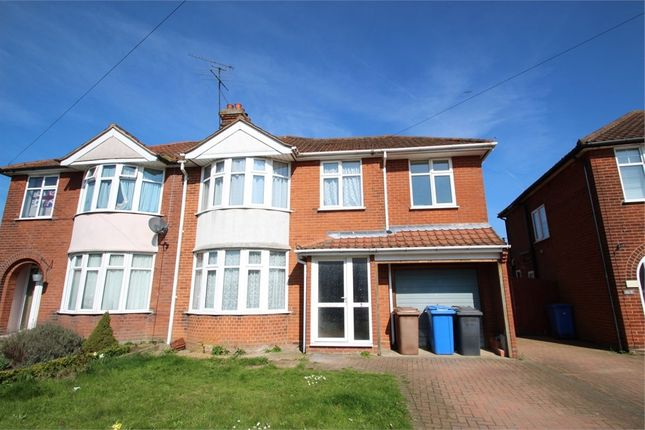Thumbnail Semi-detached house for sale in Lancing Avenue, Ipswich, Suffolk