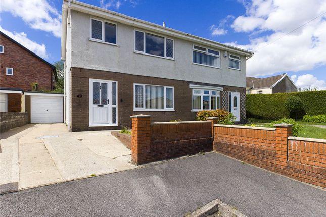 Thumbnail Semi-detached house for sale in Brynffynon Close, Aberdare, Rhondda Cynon Taff