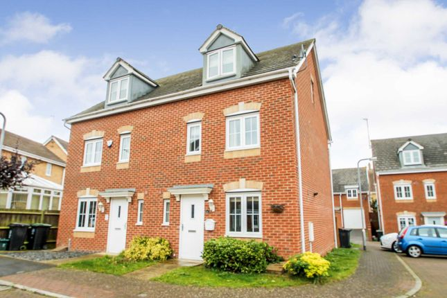 Thumbnail Semi-detached house for sale in Regency Court, Rushden