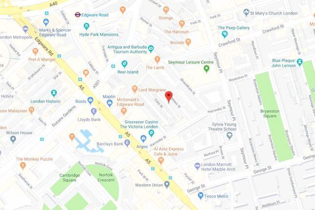 Area Map of Molyneux Street, Marylebone W1H