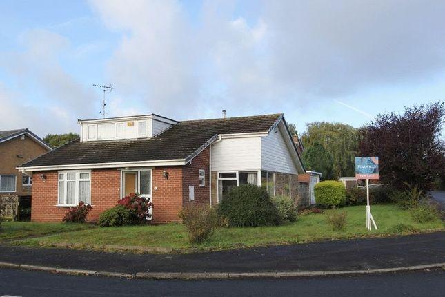 Thumbnail Detached bungalow for sale in Lea Close, Baldwins Gate, Newcastle-Under-Lyme