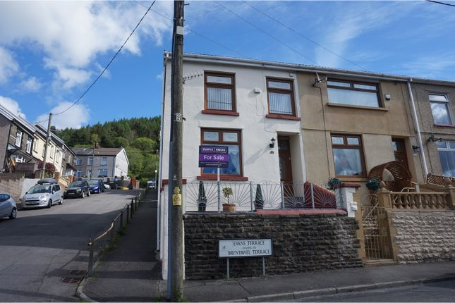 Thumbnail End terrace house for sale in Evans Terrace, Tonypandy