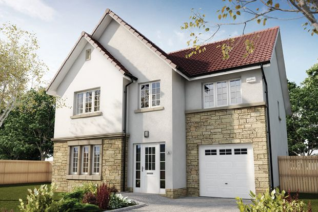 "Thumbnail Detached house for sale in ""The Crichton"" at Wilkieston Road, Ratho, Newbridge"