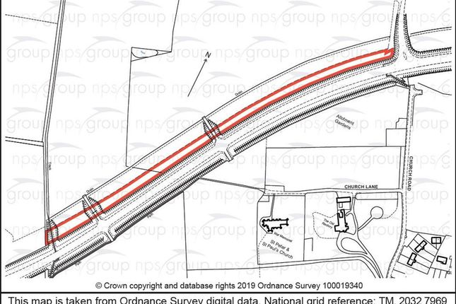 Thumbnail Land for sale in Grove Road, Brockdish, Diss