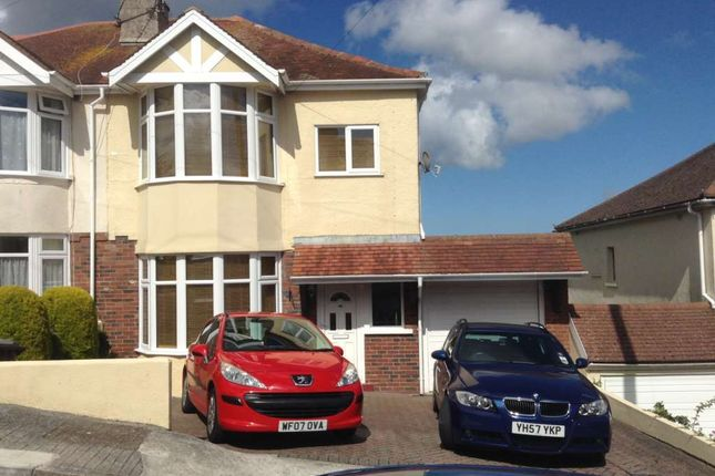 Thumbnail Semi-detached house to rent in Seaview Crescent, Preston, Paignton