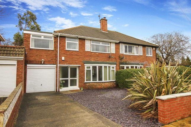 Thumbnail 4 bed semi-detached house for sale in Thropton Crescent, Gosforth, Newcastle Upon Tyne