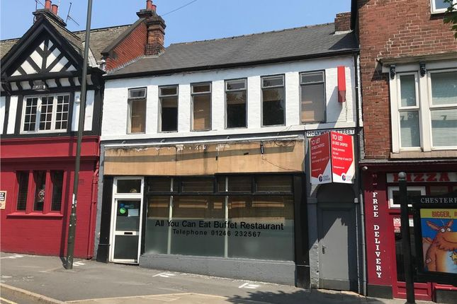 Thumbnail Restaurant/cafe to let in 3 Holywell Street, Chesterfield, Derbyshire