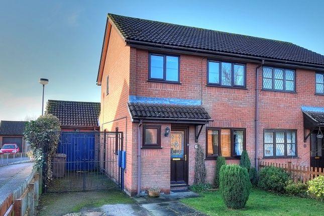 Thumbnail Semi-detached house for sale in Haverscroft Close, Taverham, Norwich