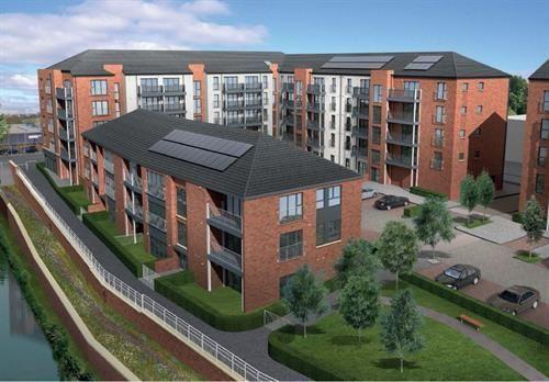 Thumbnail Flat for sale in Plot 31, Waterside Walk, Bonnington
