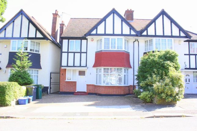 Thumbnail Semi-detached house to rent in Rowsley Avenue, Hendon, London