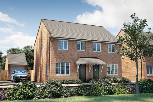 """Thumbnail Semi-detached house for sale in """"The Studland"""" at Oakley Wood Road, Bishops Tachbrook, Leamington Spa"""