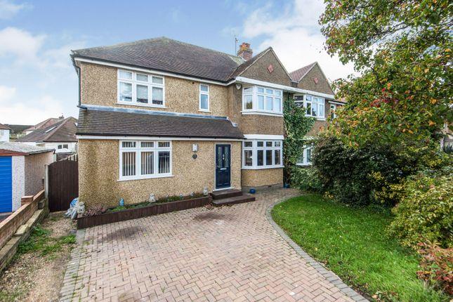 Thumbnail Semi-detached house for sale in Vallis Way, Chessington