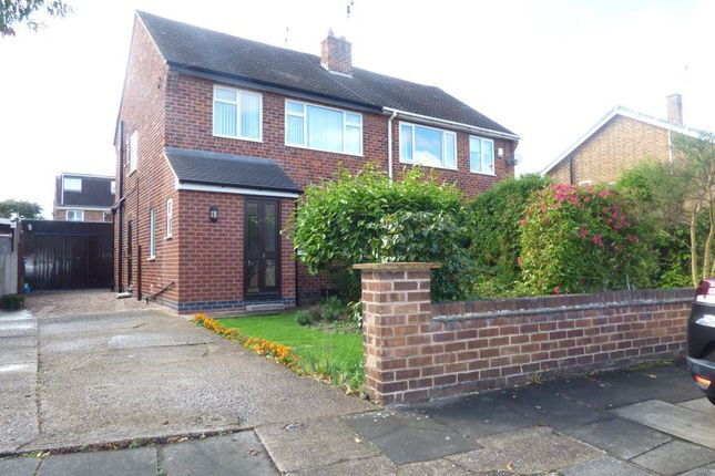 Thumbnail Semi-detached house to rent in Haddon Crescent, Chilwell, Nottingham