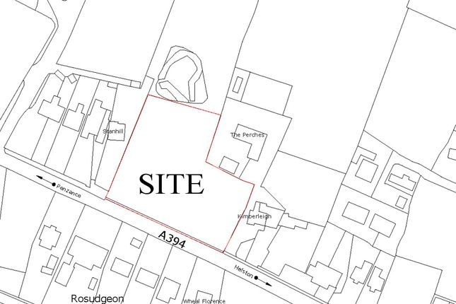 Os Plan of Development Site For 5 Houses, Rosudgeon, Penzance TR20