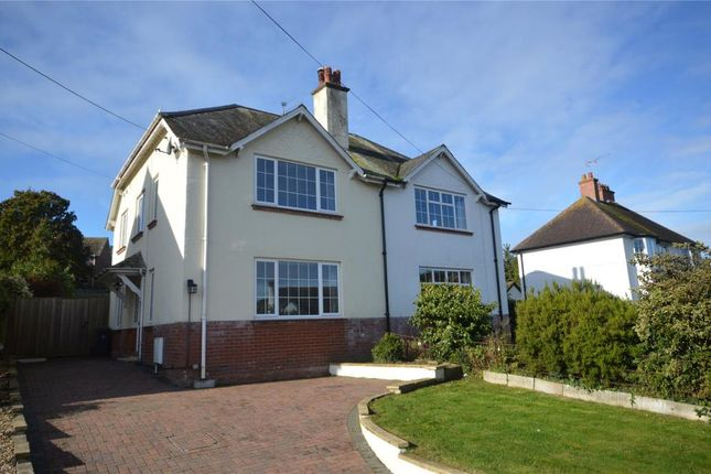 Thumbnail Semi-detached house for sale in Woolbrook Road, Sidmouth, Devon