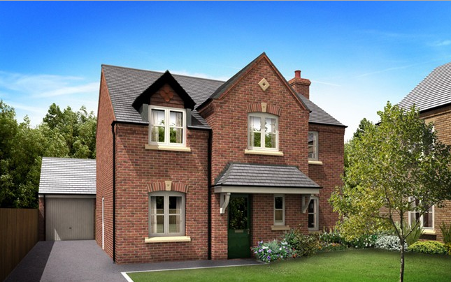 Thumbnail Detached house for sale in The Staunton, Two Gates, Tamworth